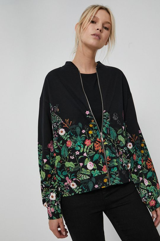 czarny Medicine - Bluza bawełniana Dark Blooms Damski