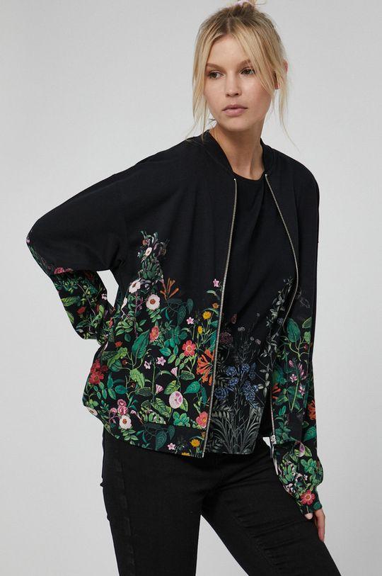 czarny Medicine - Bluza bawełniana Dark Blooms