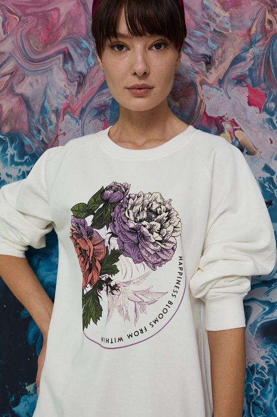 kremowy Medicine - Bluza Poetic Garden Damski