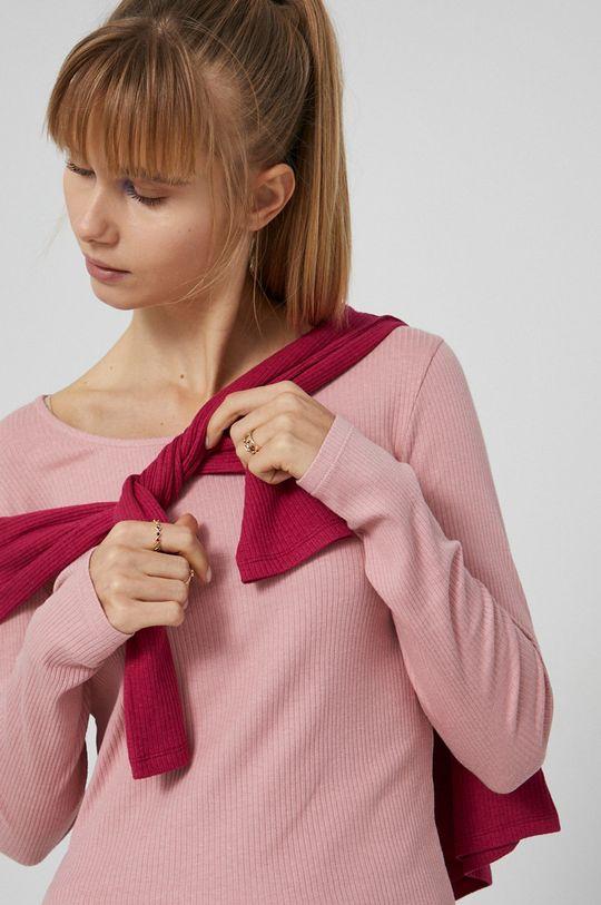roz Medicine - Longsleeve Basic De femei