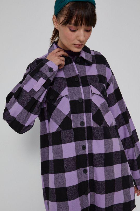 fioletowy Medicine - Koszula bawełniana Denim Days