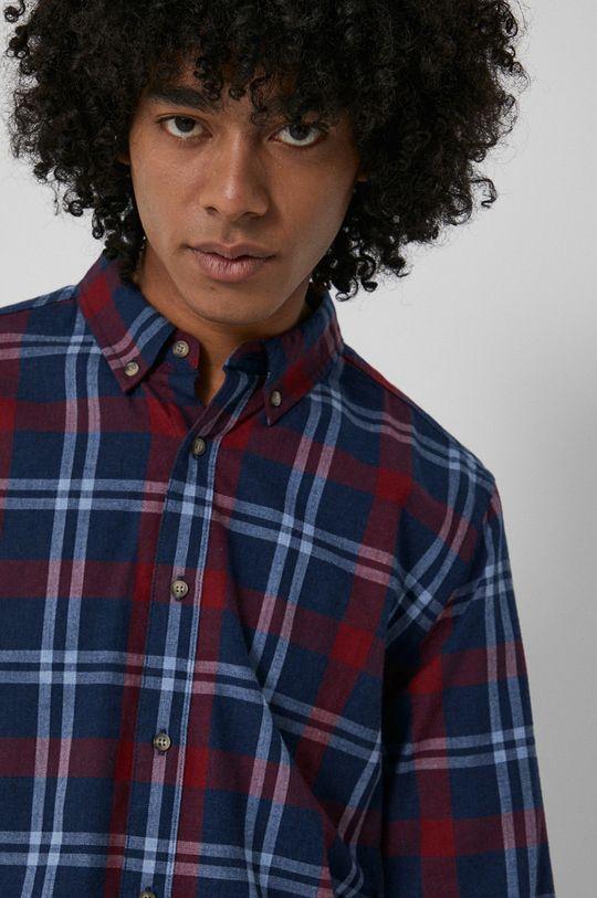 granatowy Medicine - Koszula bawełniana Basic Męski