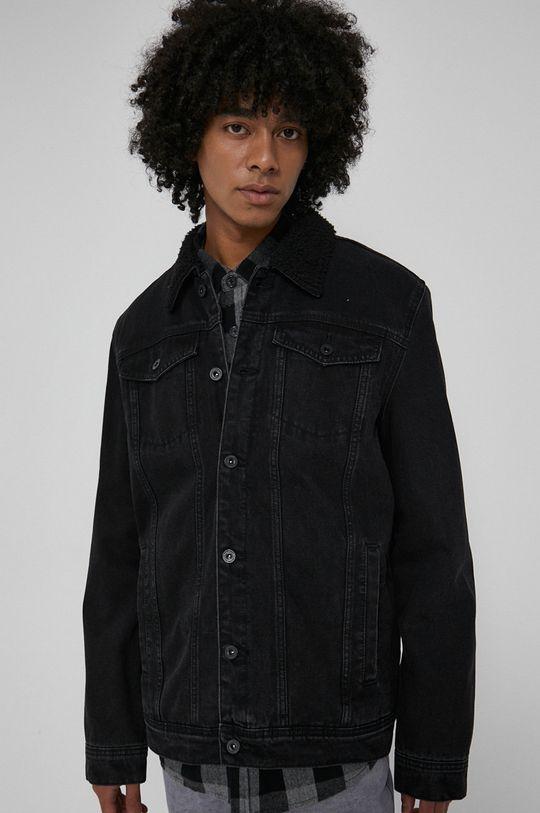 czarny Medicine - Kurtka jeansowa Basic Męski