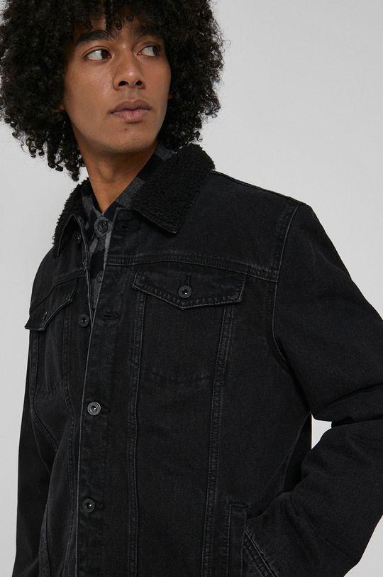 czarny Medicine - Kurtka jeansowa Basic