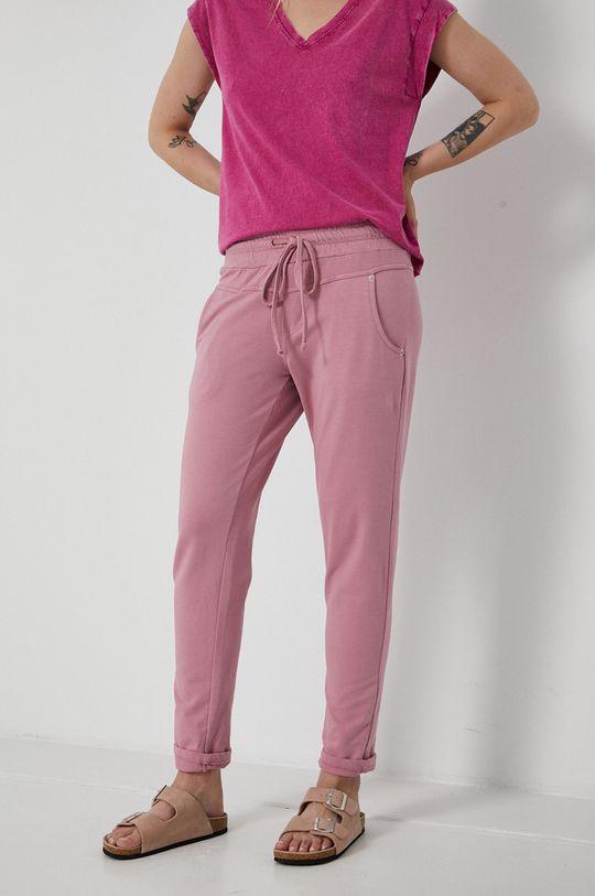 brudny róż Medicine - Spodnie Essential Damski