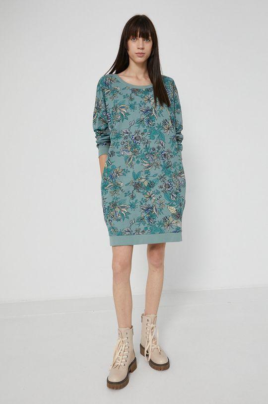 Medicine - Bavlněné šaty Commercial světle modrá