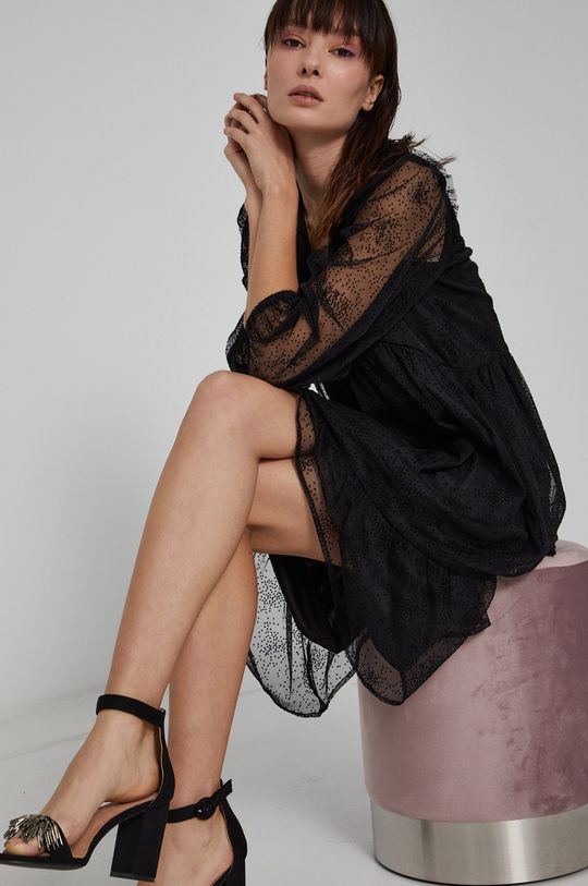 czarny Medicine - Sukienka Graphic Bouquet Damski