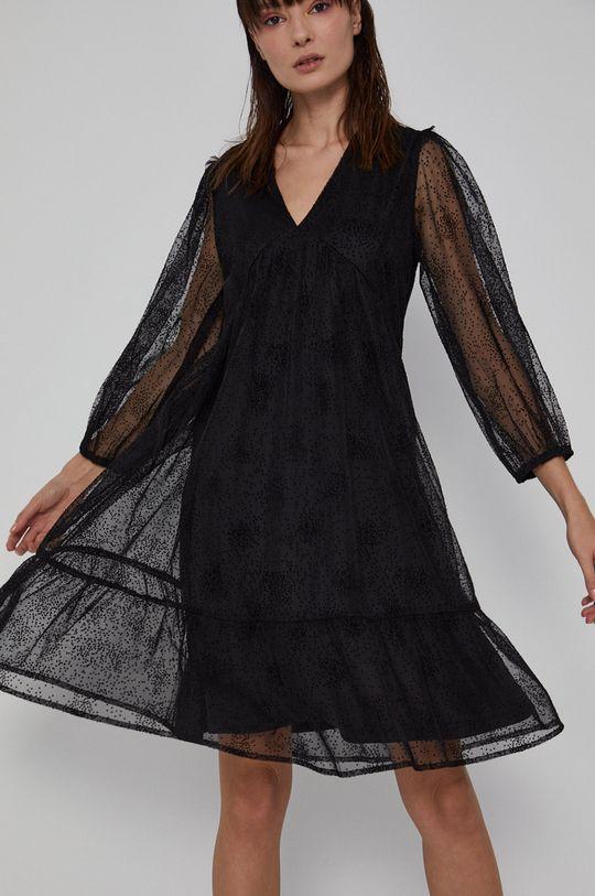 Medicine - Sukienka Graphic Bouquet czarny