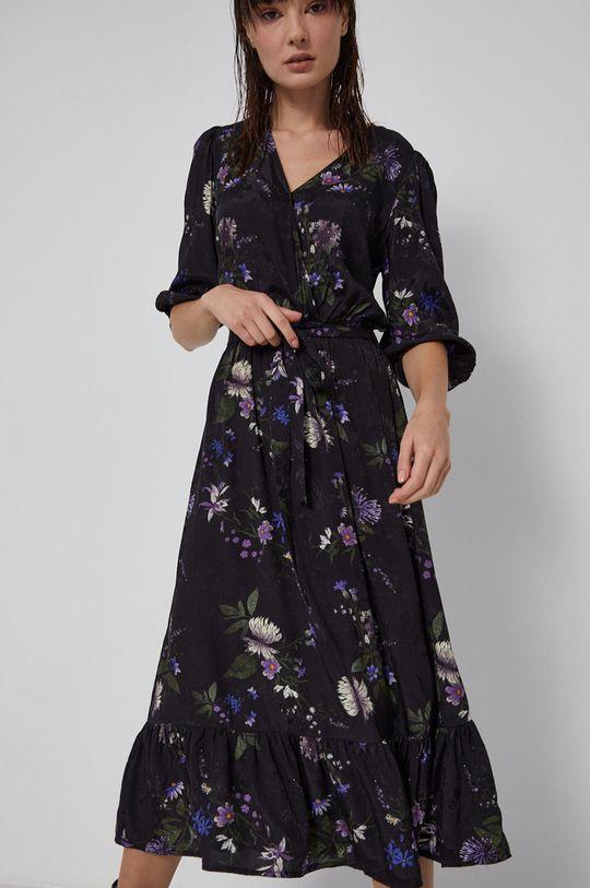 czarny Medicine - Sukienka Poetic Garden