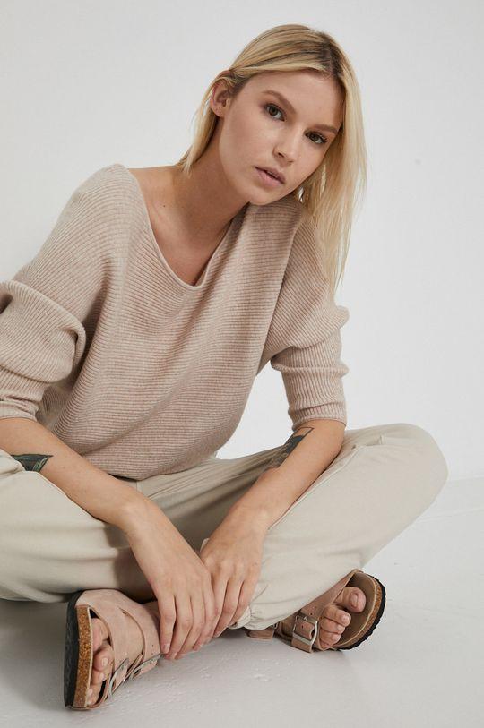 piaskowy Medicine - Sweter Commercial Damski