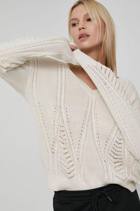 kremowy Medicine - Sweter Essential Damski