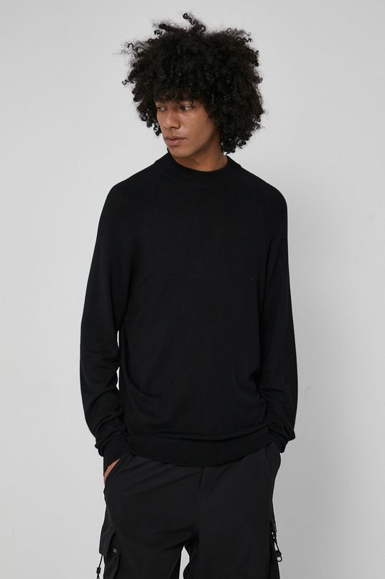 czarny Medicine - Sweter Commercial Męski