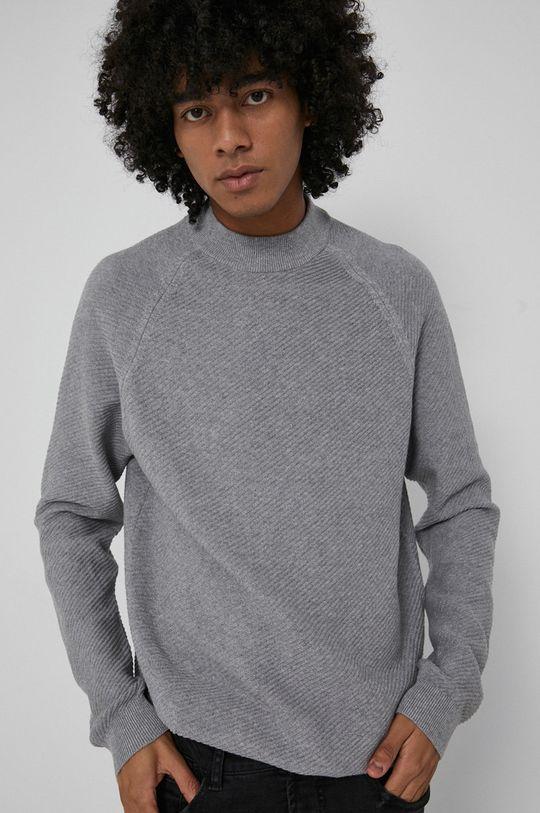 jasny szary Medicine - Sweter Basic Męski