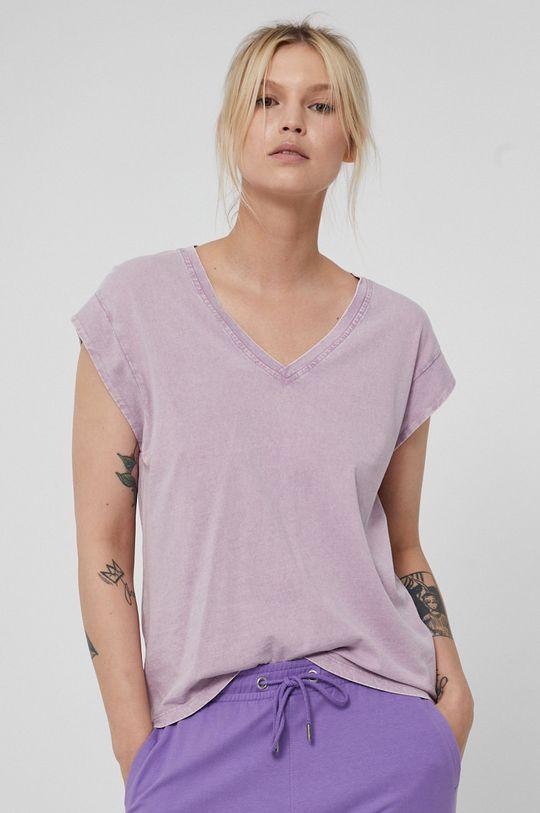 lawendowy Medicine - T-shirt Basic Damski