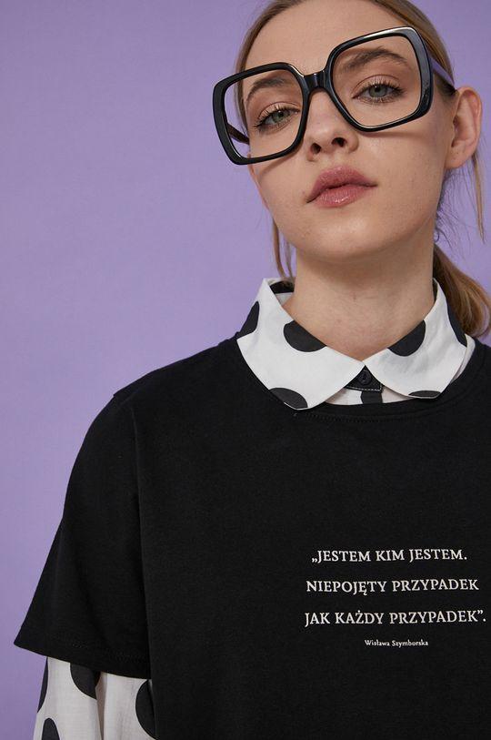 czarny Medicine - T-shirt Wisława Szymborska Damski