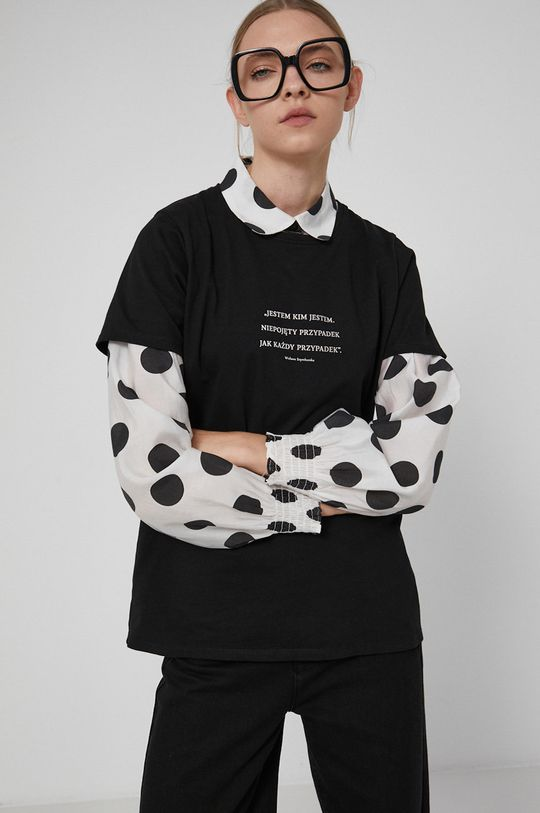 czarny Medicine - T-shirt Wisława Szymborska