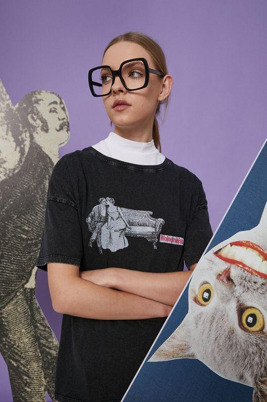 szary Medicine - T-shirt bawełniany Wisława Szymborska Damski