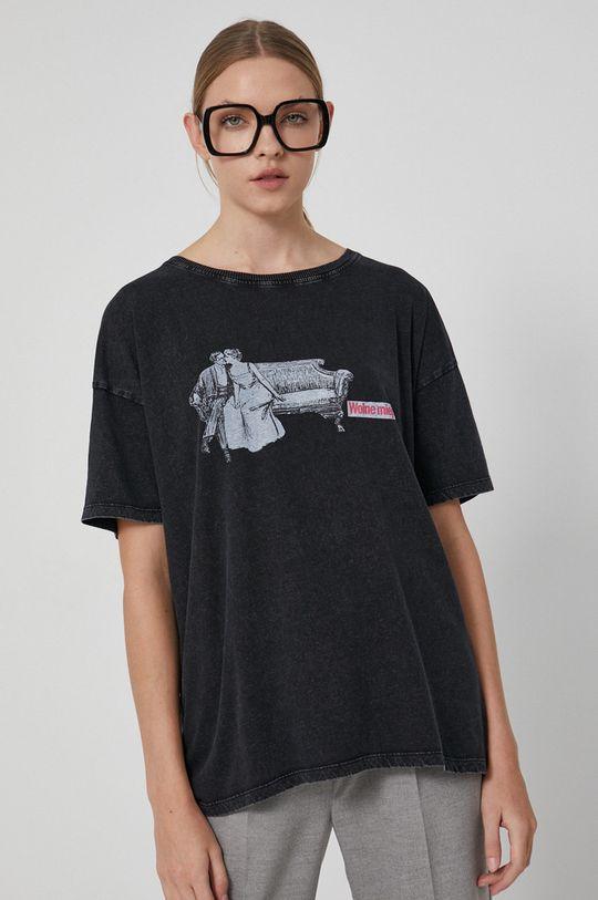szary Medicine - T-shirt bawełniany Wisława Szymborska