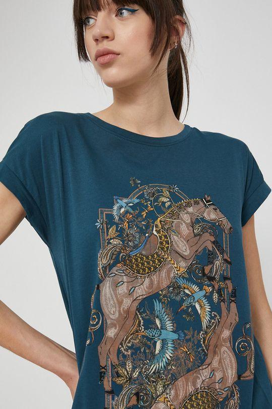 cyraneczka Medicine - T-shirt bawełniany Bohemian