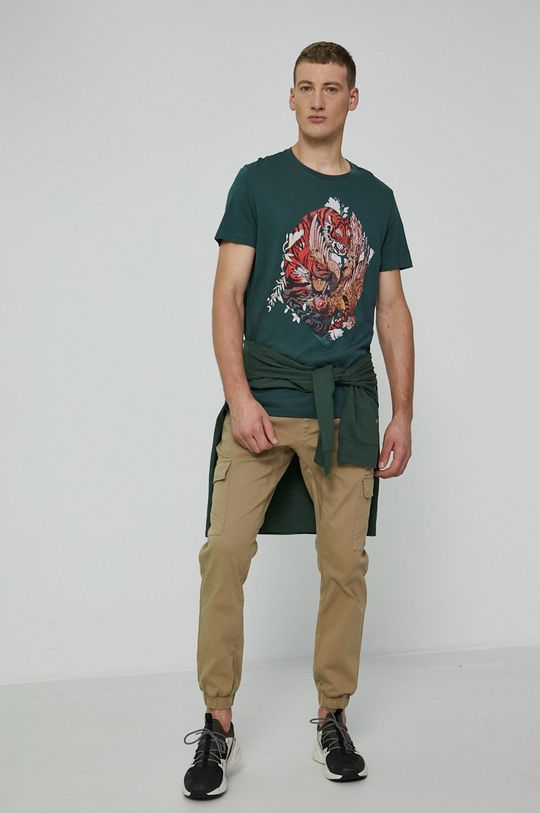 Medicine - T-shirt bawełniany by Sebastián Rubiano, Grafika Polska brudny zielony