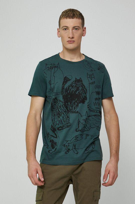 stalowy zielony Medicine - T-shirt bawełniany by Agnieszka Gajos, Grafika Polska