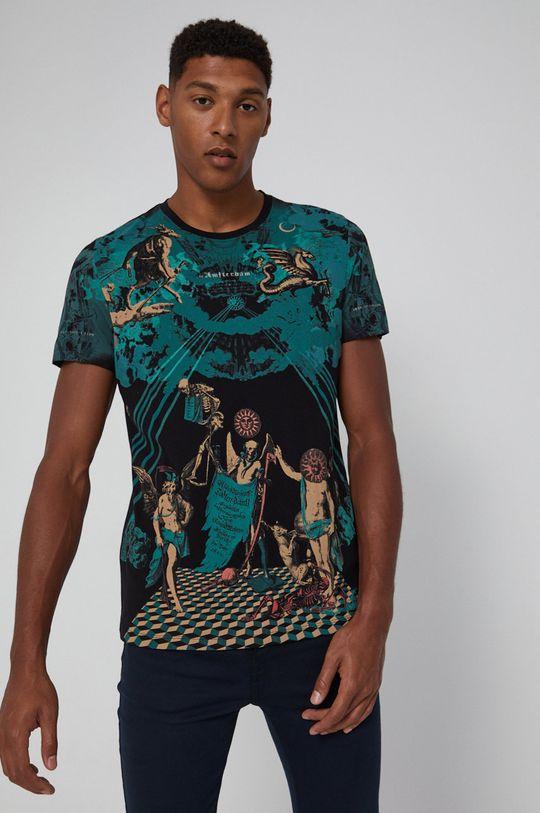 negru Medicine - Tricou din bumbac Urban Punk De bărbați