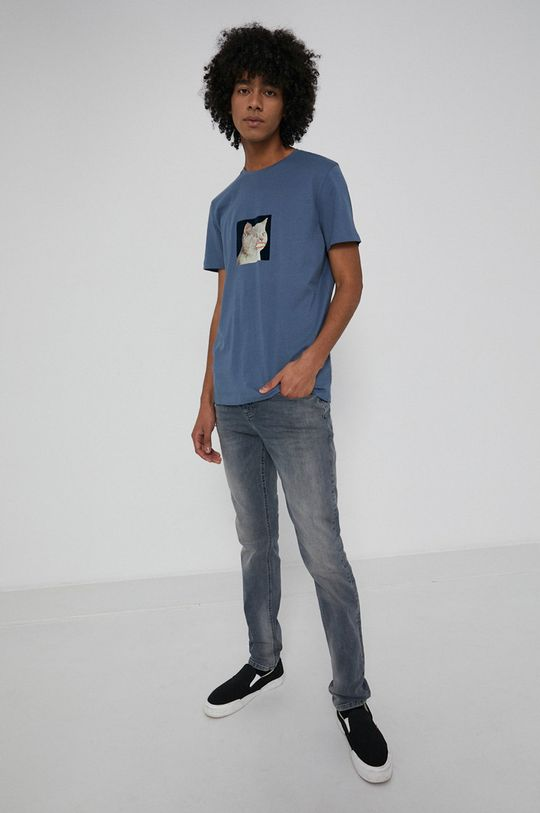 Medicine - T-shirt bawełniany Wisława Szymborska niebieski