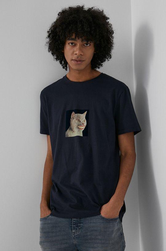 granatowy Medicine - T-shirt bawełniany Wisława Szymborska