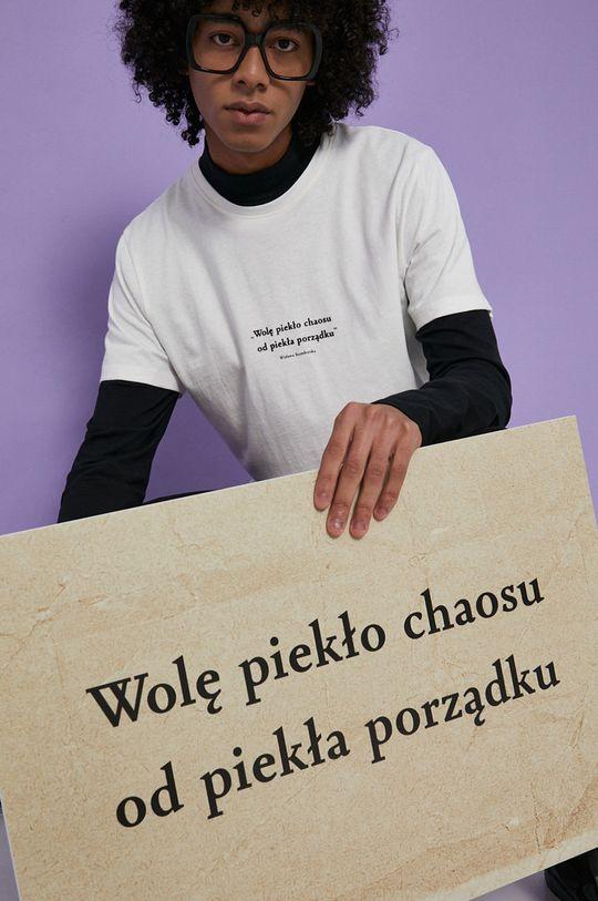 kremowy Medicine - T-shirt bawełniany Wisława Szymborska Męski