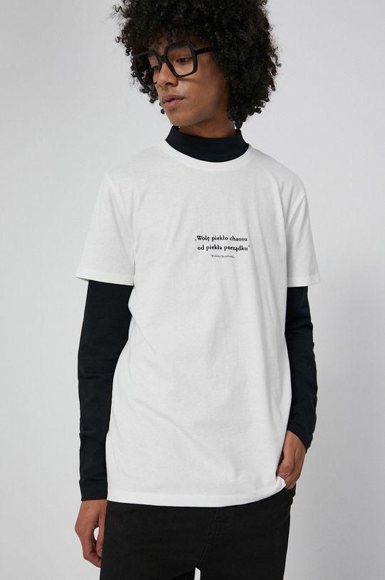 kremowy Medicine - T-shirt bawełniany Wisława Szymborska