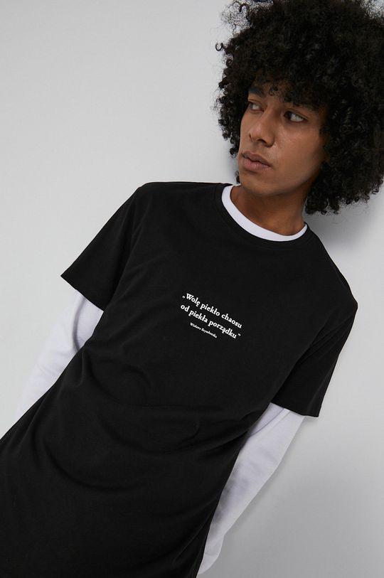 czarny Medicine - T-shirt bawełniany Wisława Szymborska