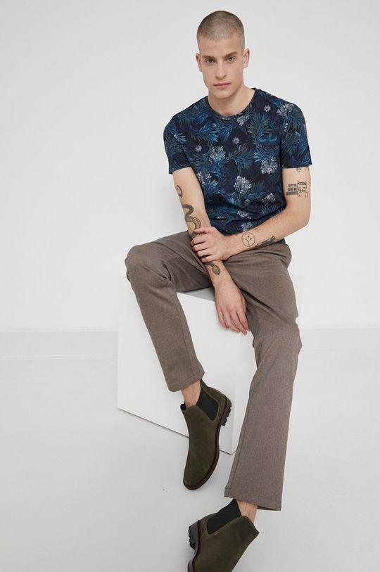 námořnická modř Medicine - Bavlněné tričko Tapestry Pánský