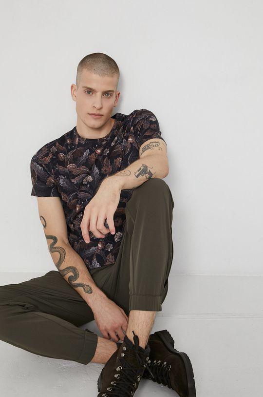 hnědá Medicine - Bavlněné tričko Tapestry Pánský