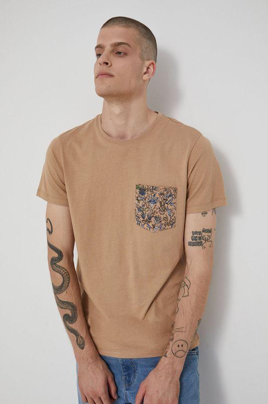 béžová Medicine - Bavlněné tričko Tapestry Pánský