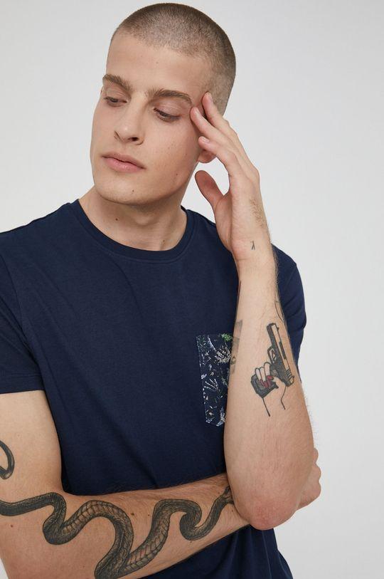 námořnická modř Medicine - Bavlněné tričko Tapestry