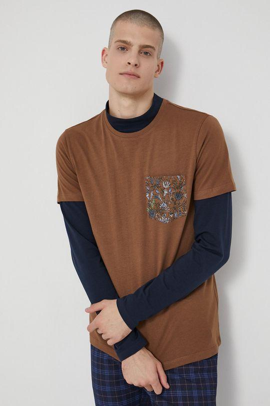 hnědá Medicine - Bavlněné tričko Tapestry