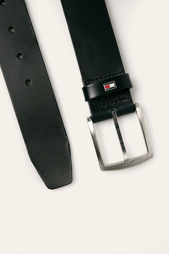 Tommy Hilfiger - Kožený pásek New Denton černá