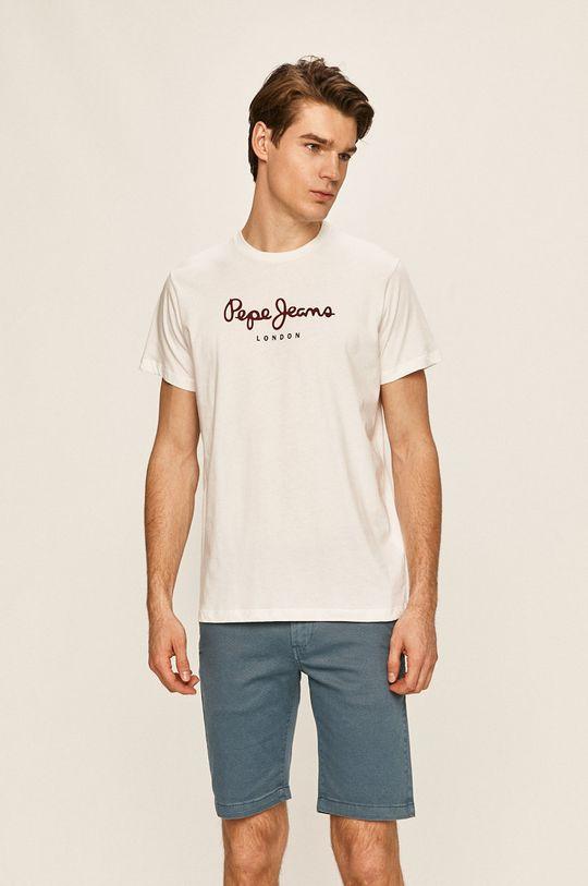 bílá Pepe Jeans - T-shirt Eggo Pánský