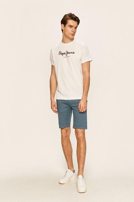 Pepe Jeans - T-shirt Eggo bílá