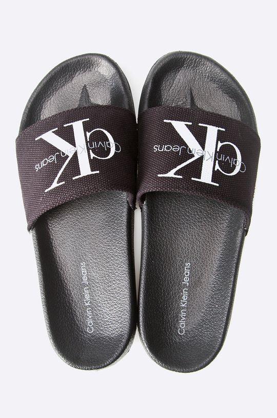 Calvin Klein Jeans - Papuci Viggo Heavy Canvas negru