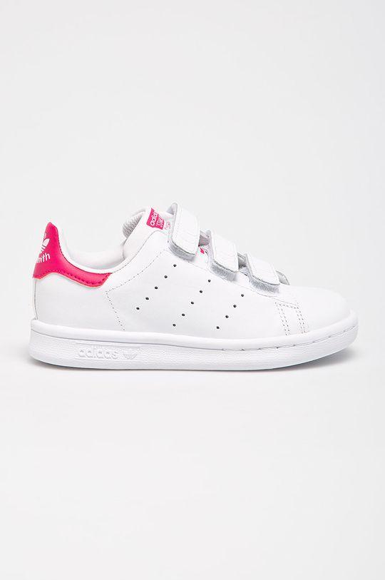 alb adidas Originals - Pantofi copii Stan Smith CF C De fete