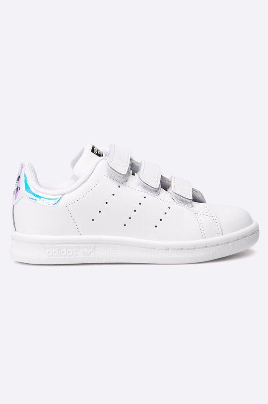 biela adidas Originals - Detské topánky Stan Smith CF C Dievčenský