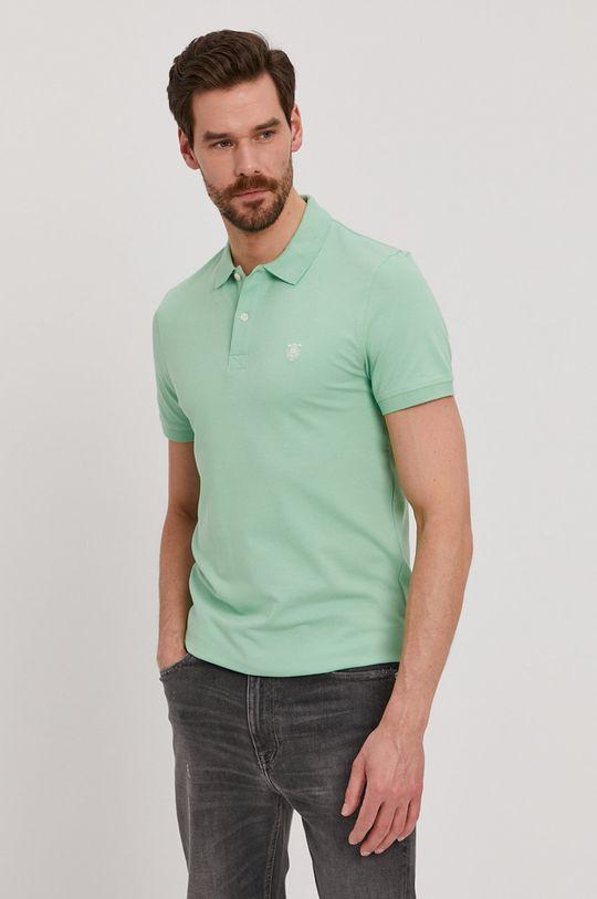 světle zelená Selected - Polo tričko Pánský