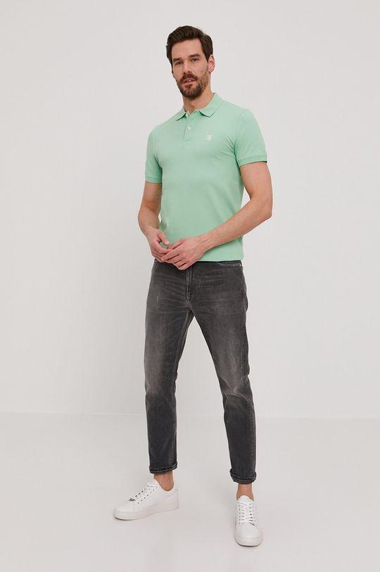Selected - Polo tričko světle zelená
