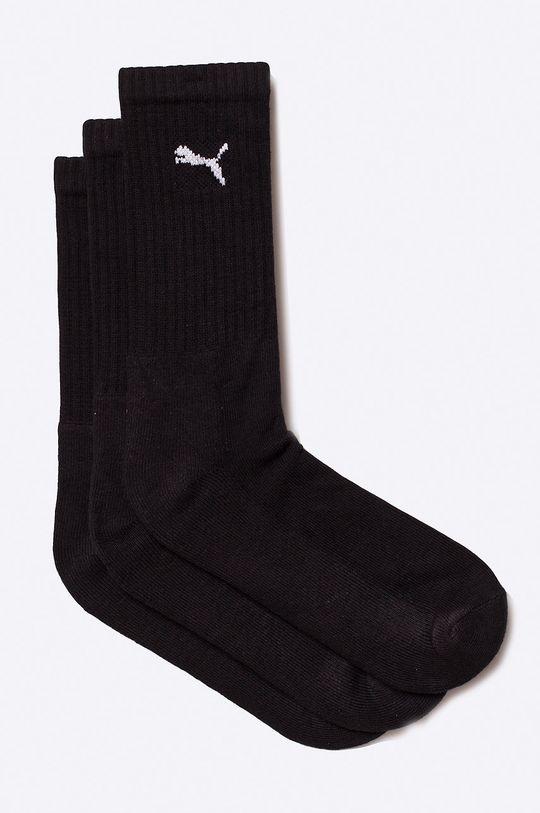 čierna Puma - Ponožky (3-pak) Pánsky