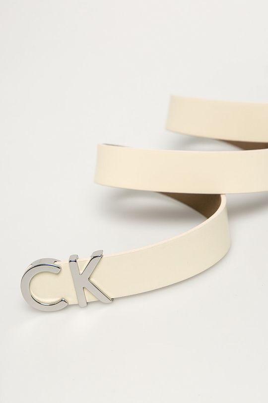 Calvin Klein Jeans - Curea de piele crem
