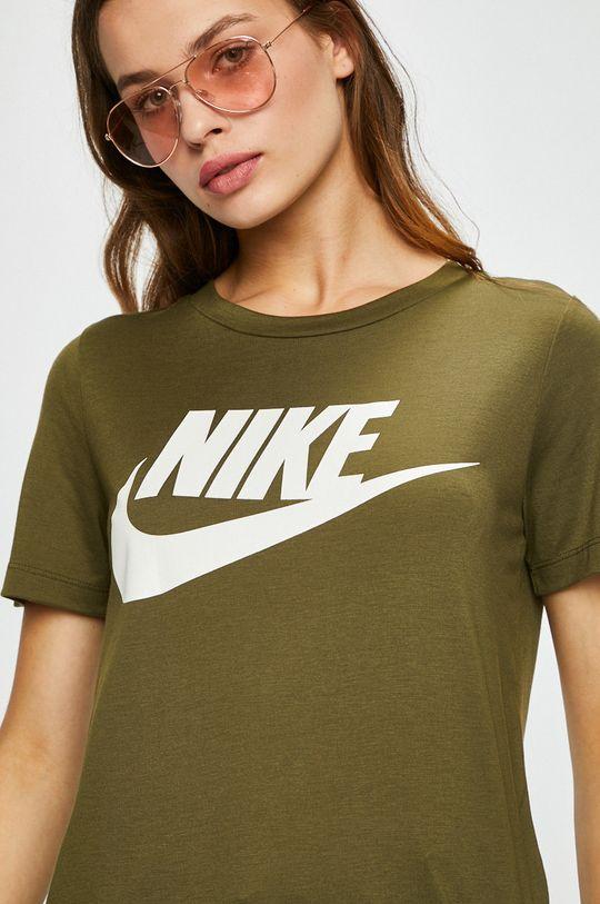 зелено-коричневий Nike Sportswear - Топ Жіночий