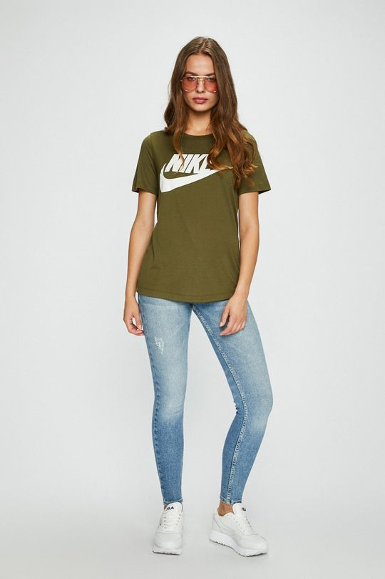 Nike Sportswear - Топ зелено-коричневий