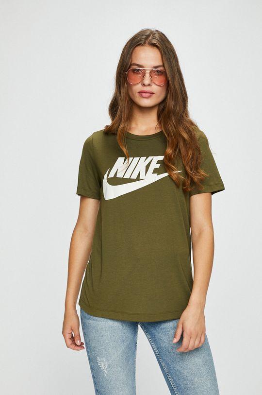 зелено-коричневий Nike Sportswear - Топ