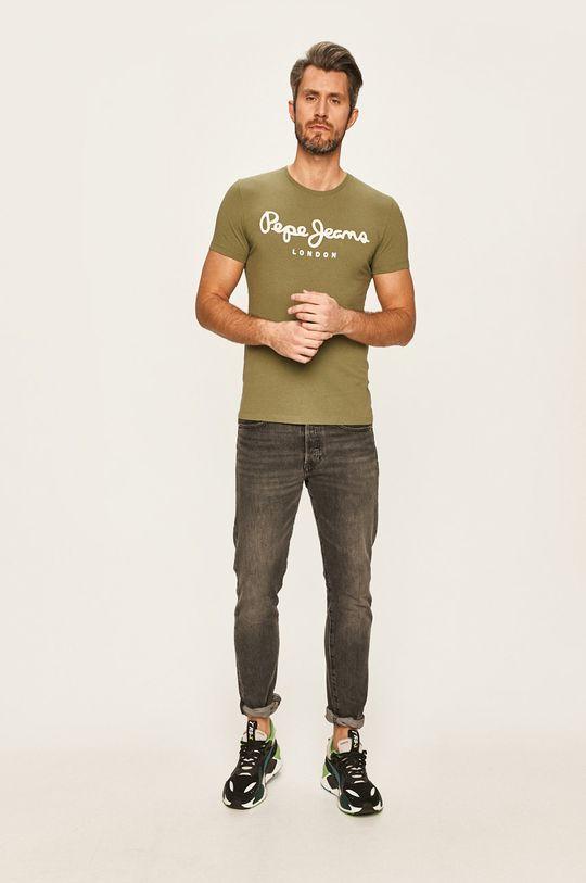 Pepe Jeans - Tričko okrová